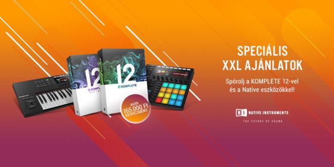 Speciális XXL ajánlatok féláron a Native Instrumentsnél!